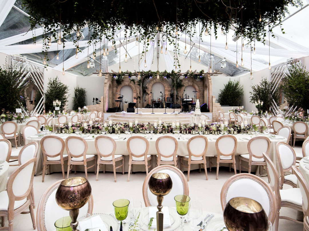 Countryside Surrey Summer Wedding Luxury Bespoke Marquee JustSeventy Bride