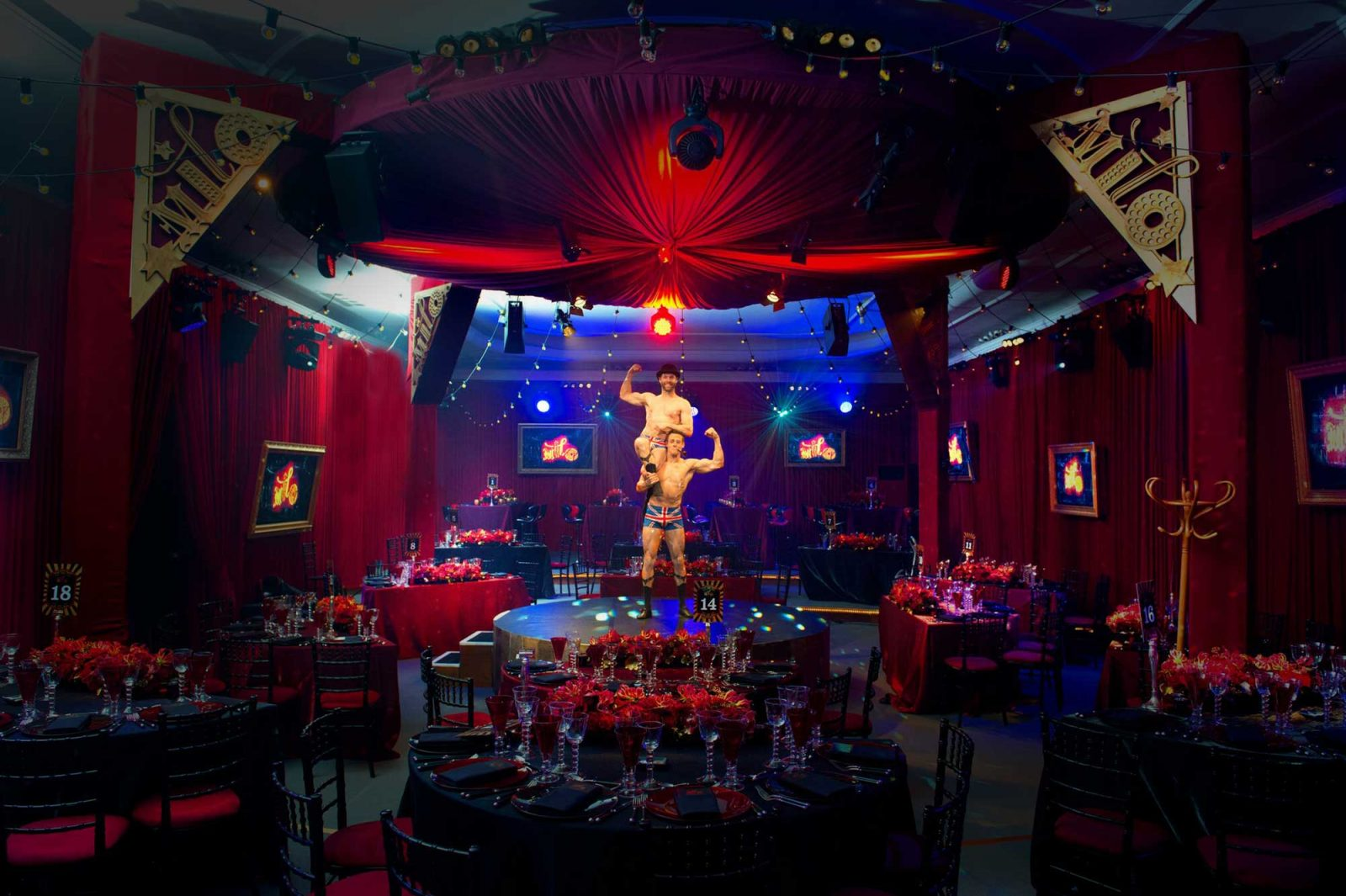 Circus Themed Bar Mitzvah Party At Claridges Hotel