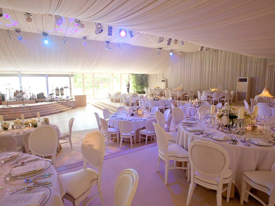 Luxury Wedding Marquee Event Cotswolds Bespoke JustSeventy Bride Groom