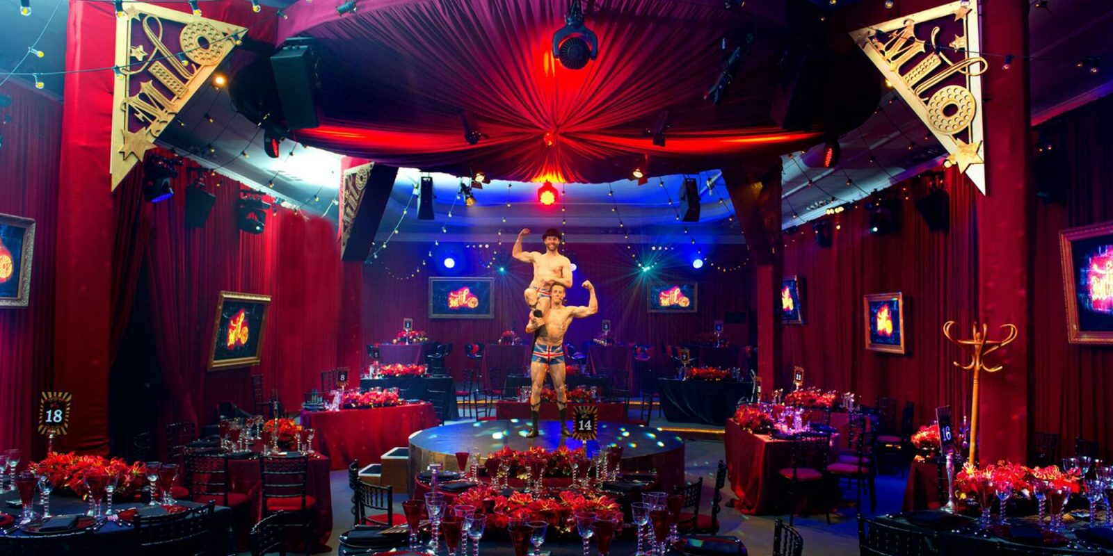 Circus Entertainment Bar Mitzvah Party at Claridges Hotel