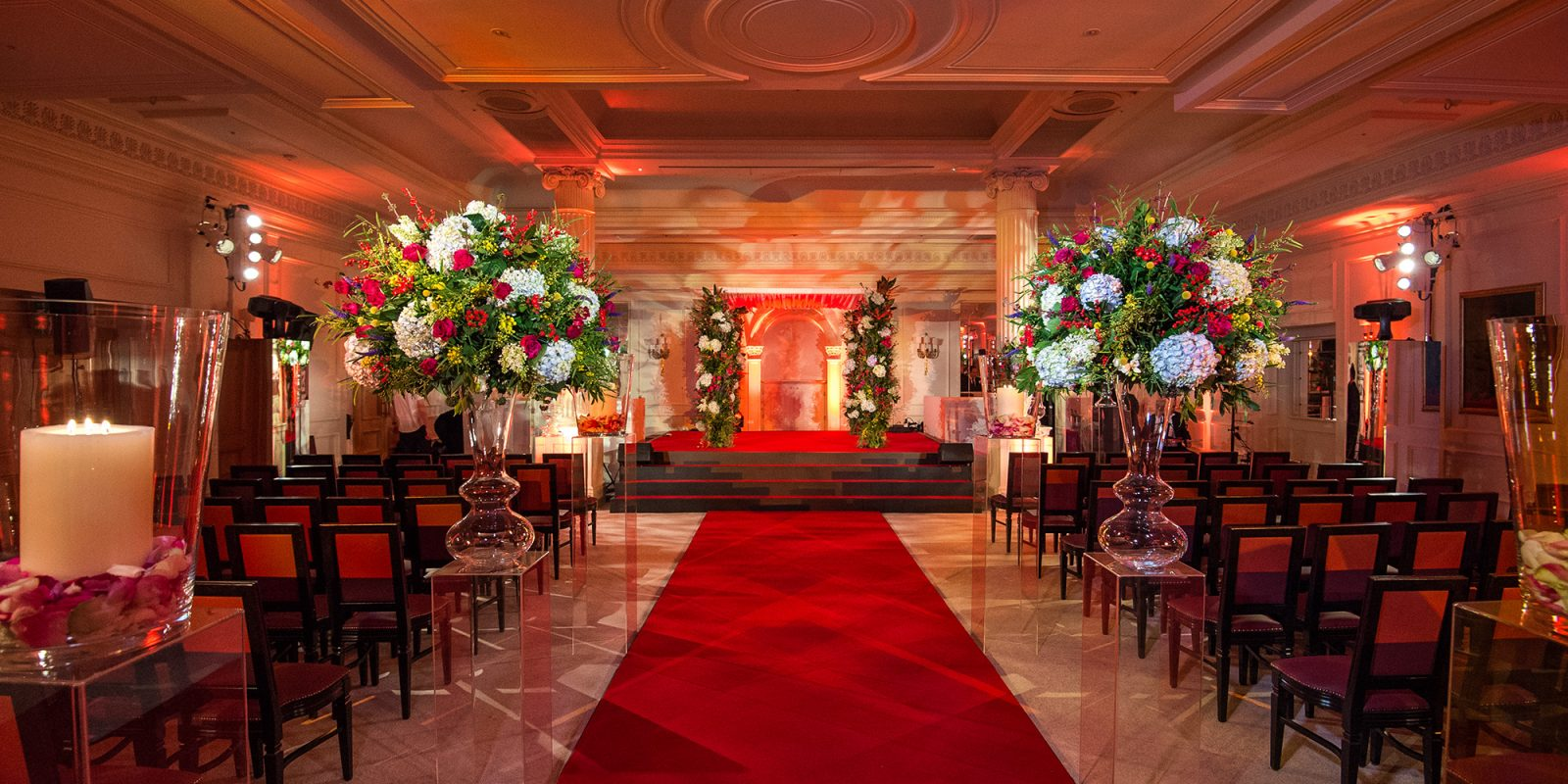 JustSeventy Bespoke Red Wedding at The Savoy Hotel
