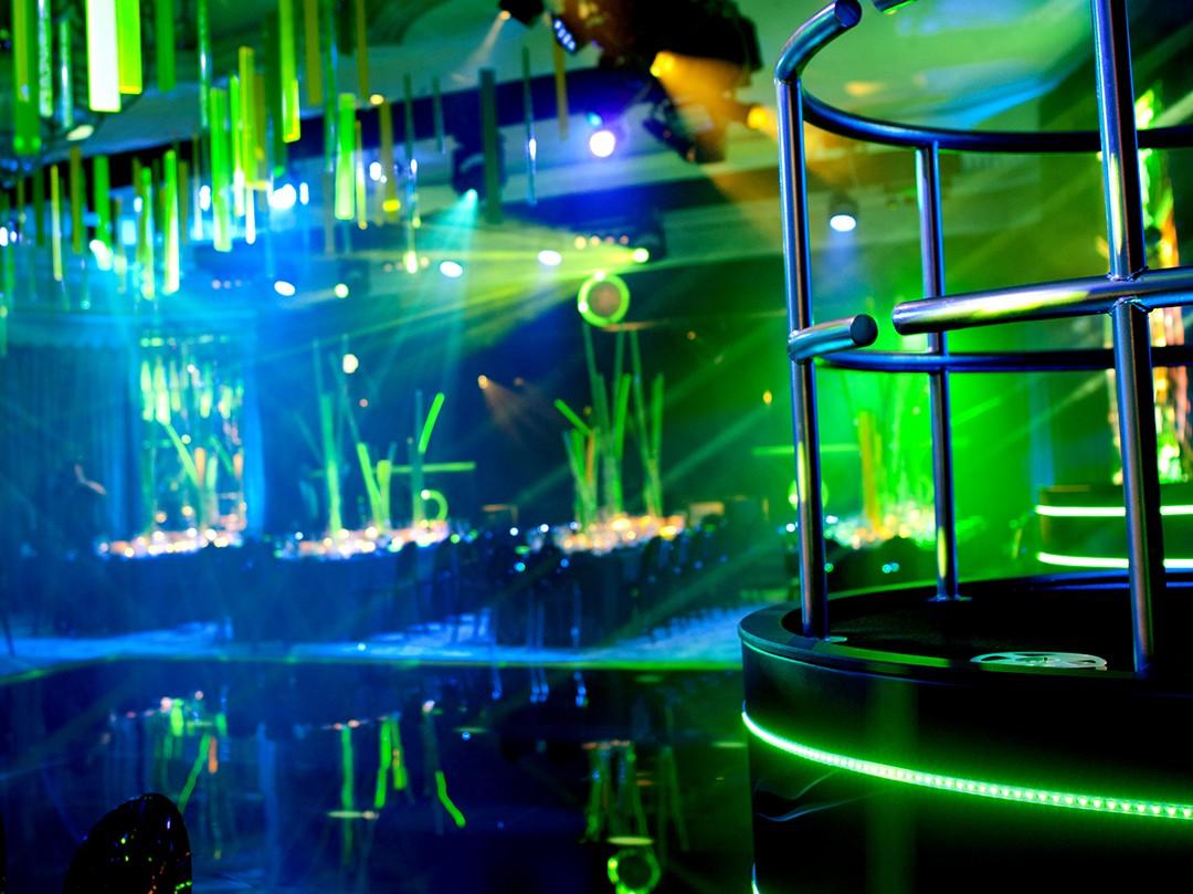 Dorchester Hotel Transformation to Bar Mitzvah Neon Nightclub