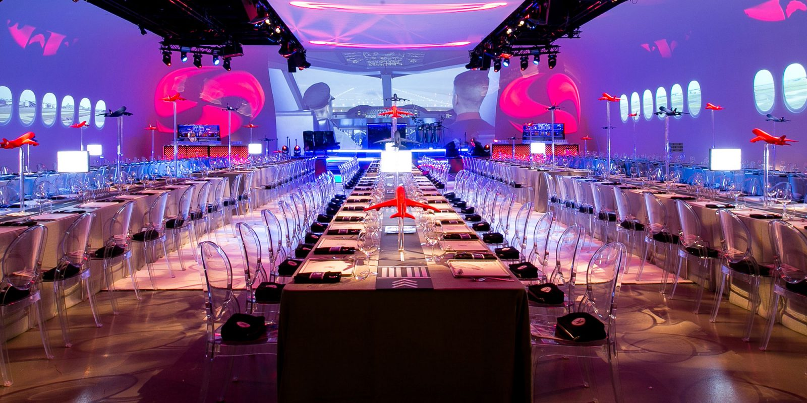 Luxury Barmitzvah Aeroplane Travel Party Immersive JustSeventy Event