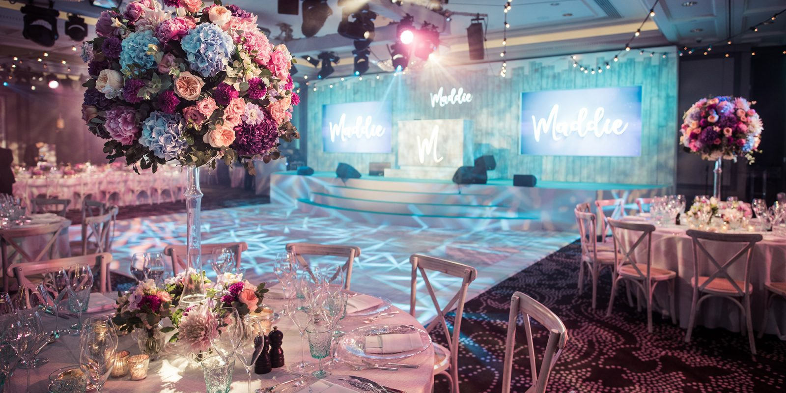 JustSeventy Floral Rosewood London Bat Mitzvah Event