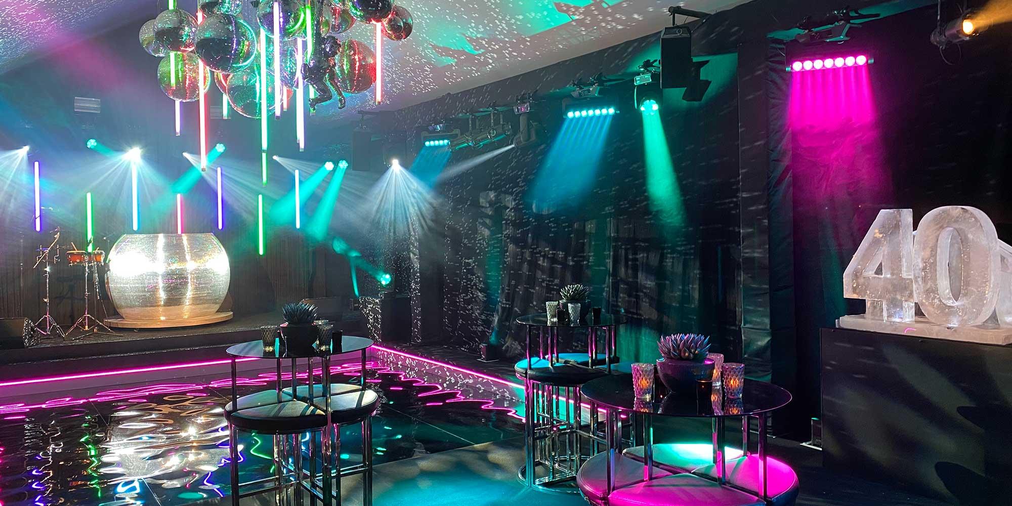 Bespoke Nightclub Birthday Party in Client Basement
